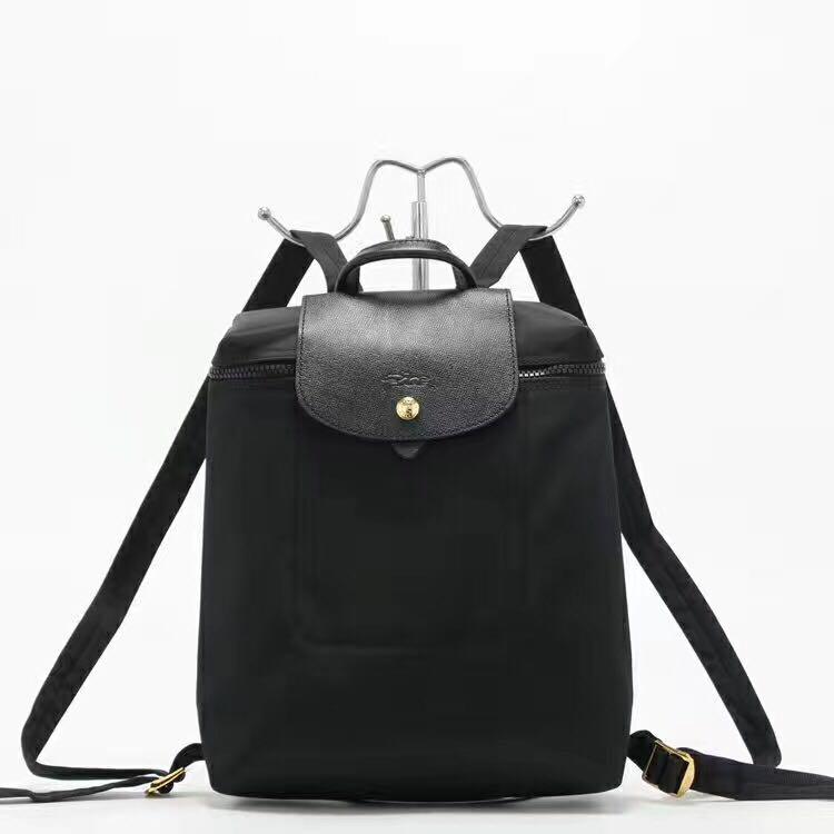 eb369f79dca Longchamp backpack 1699neo black la plaige neo, Women's Fashion ...