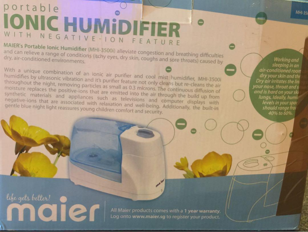 Maier portable ionic humidifier