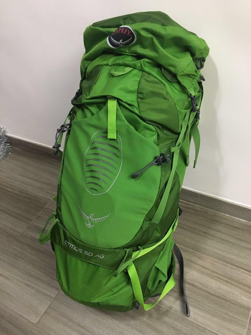 OSPREY ATMOS AG 50 (行山/露營背包,95%新,只用了兩次)