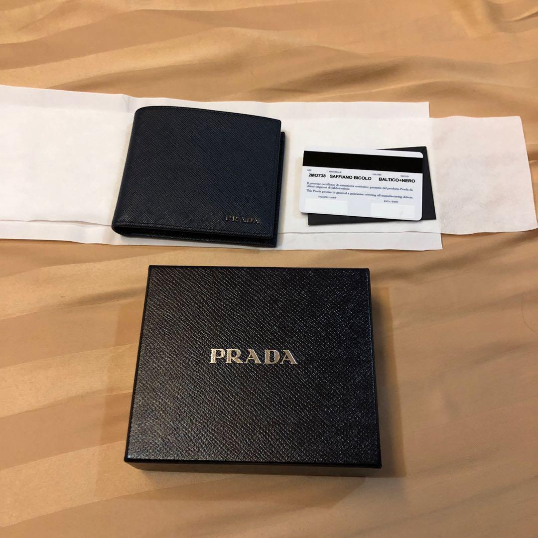 7ac33378892e36 Prada Saffiano Leather Mens Wallet, Men's Fashion, Bags & Wallets ...