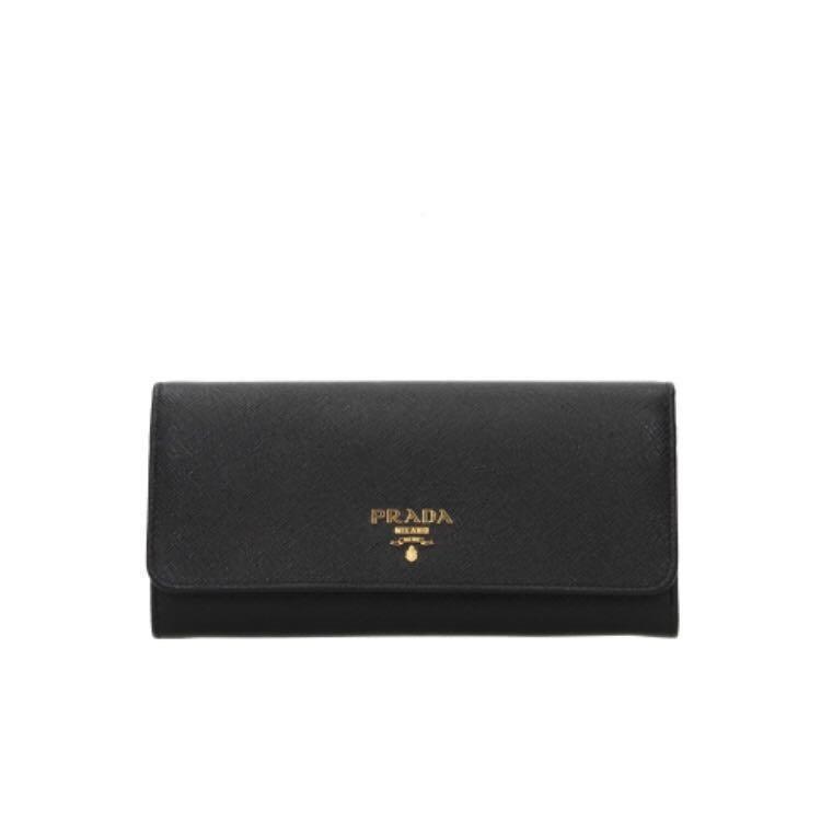 679f3a7d222a Prada Saffiano Metal Long Flap Leather Wallet, Luxury, Bags ...