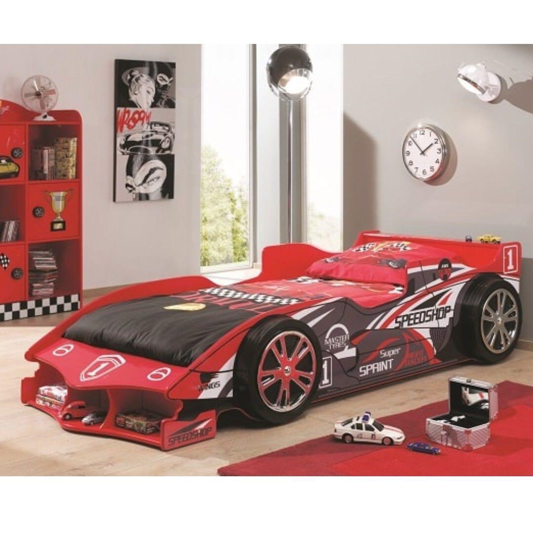 Preloved Speedshop Race Car Bed Bedframe Bedframe Only Furniture Beds Mattresses On Carousell