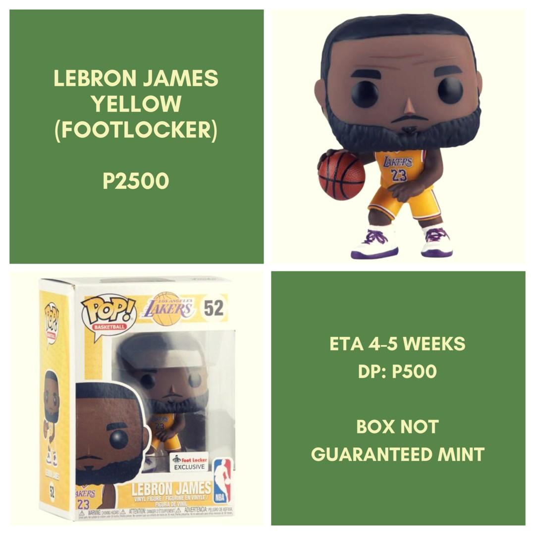 online retailer e28ec e52f7 [Pre-Order] Funko Lebron James Yellow Jersey