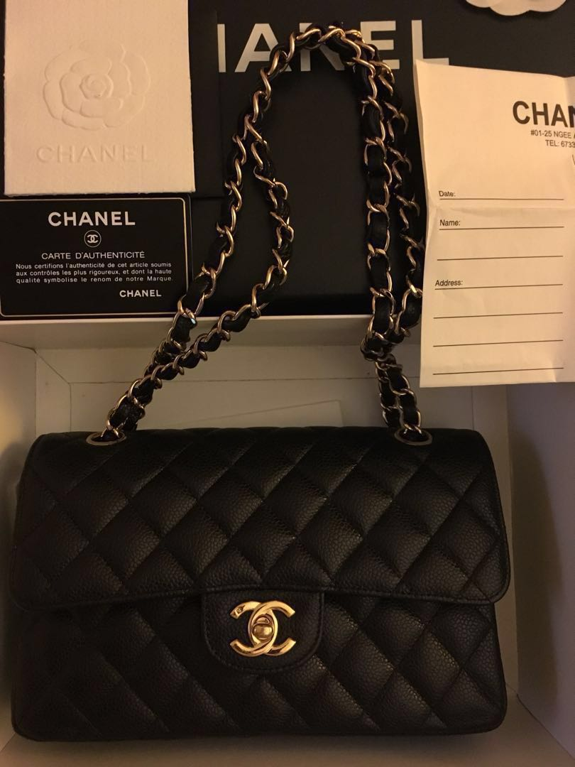 981852c46ae2 Rare! Chanel Small Flap Caviar with GHW
