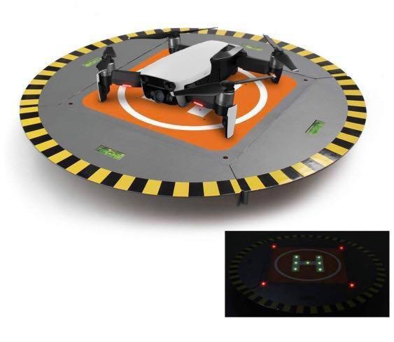 RCGEEK Drone Landing Pad Launch Pad with LED Lights