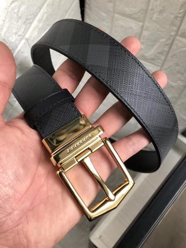 Smoke Checked Mens Belt