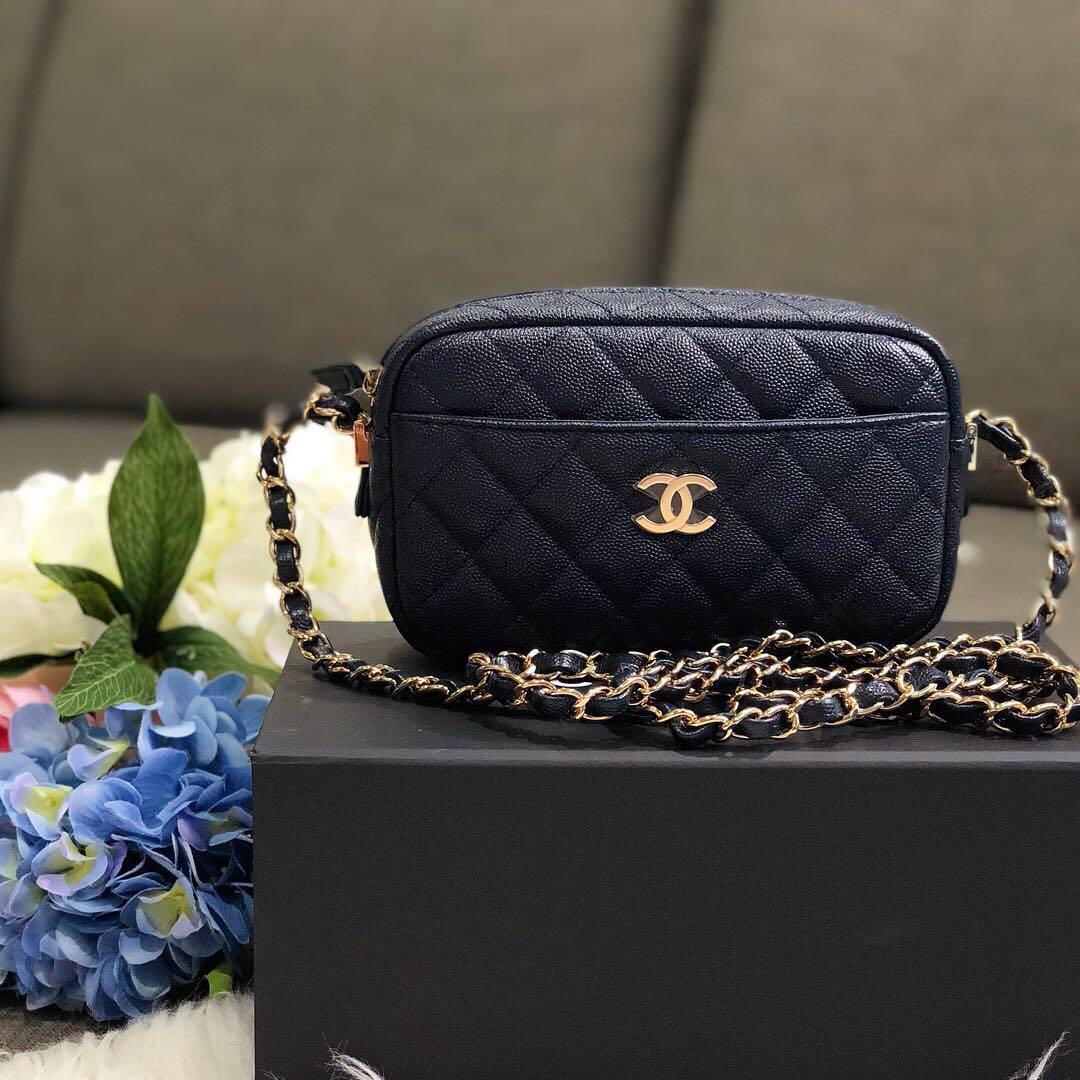 08e58e15b2b9 ❌SOLD!❌ Rare Piece! Chanel Mini Camera Bag in Navy Caviar Shiny ...