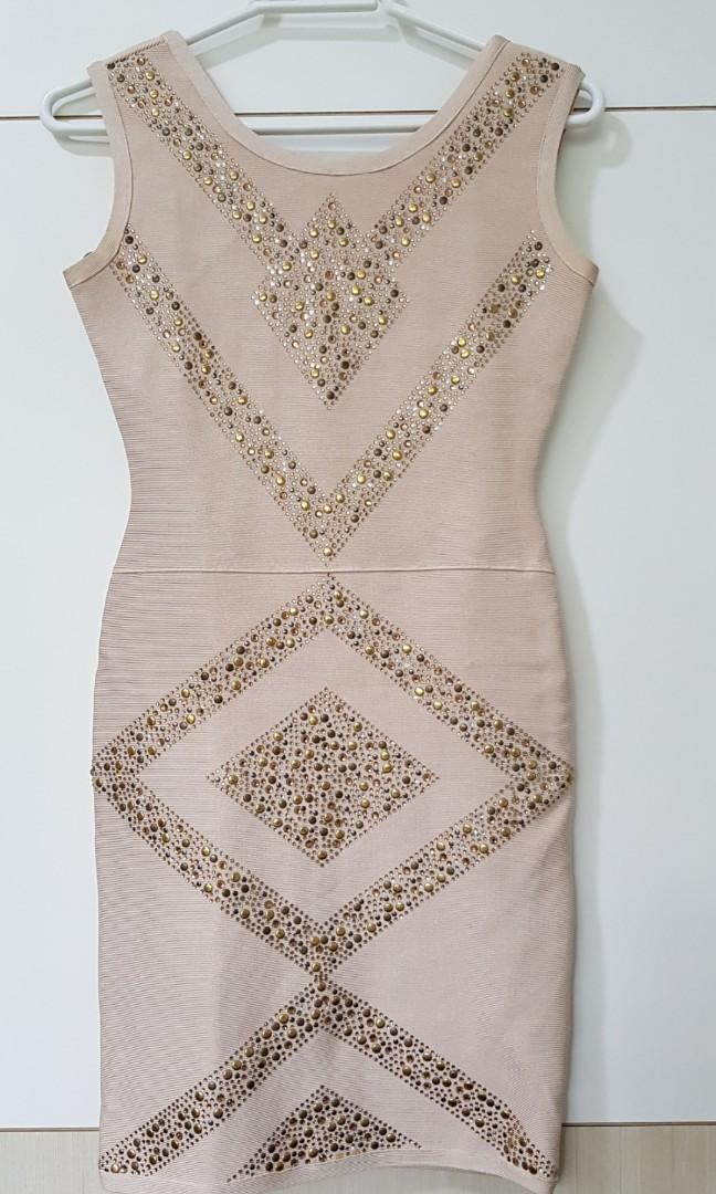 Studded Bandage Dress