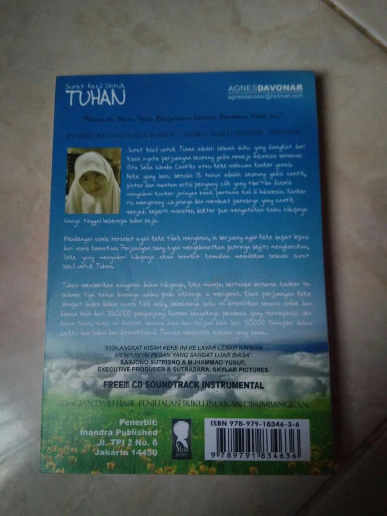 Surat Kecil Untuk Tuhan Prelovedbekas Books Stationery