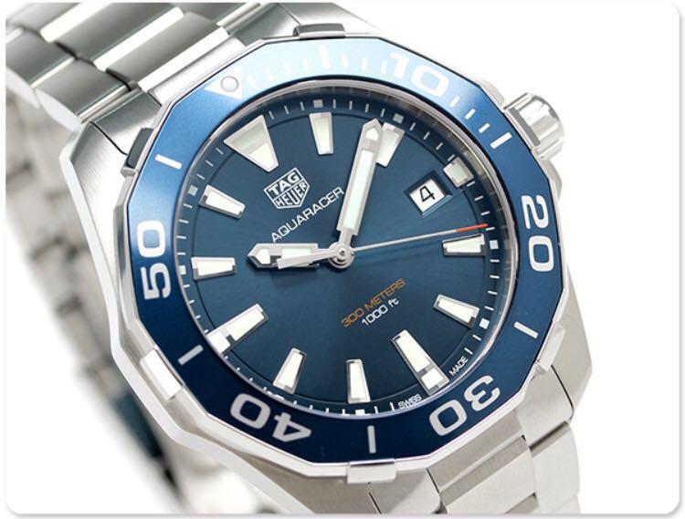 43cfd2b3cc2 Tag Heuer Aquaracer 41mm Blue Dial WAY111C.BA0928, Men's Fashion ...