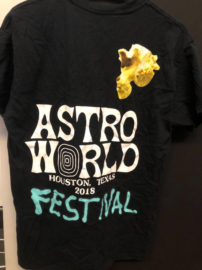 06a0a0d1 Travis Scott ASTROWORLD Festival Tee, Men's Fashion, Clothes, Tops ...