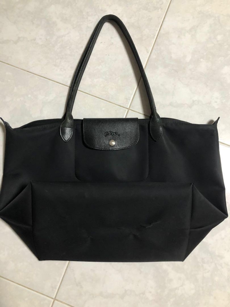 aec04071d8eb Used) Big Black longchamp bag