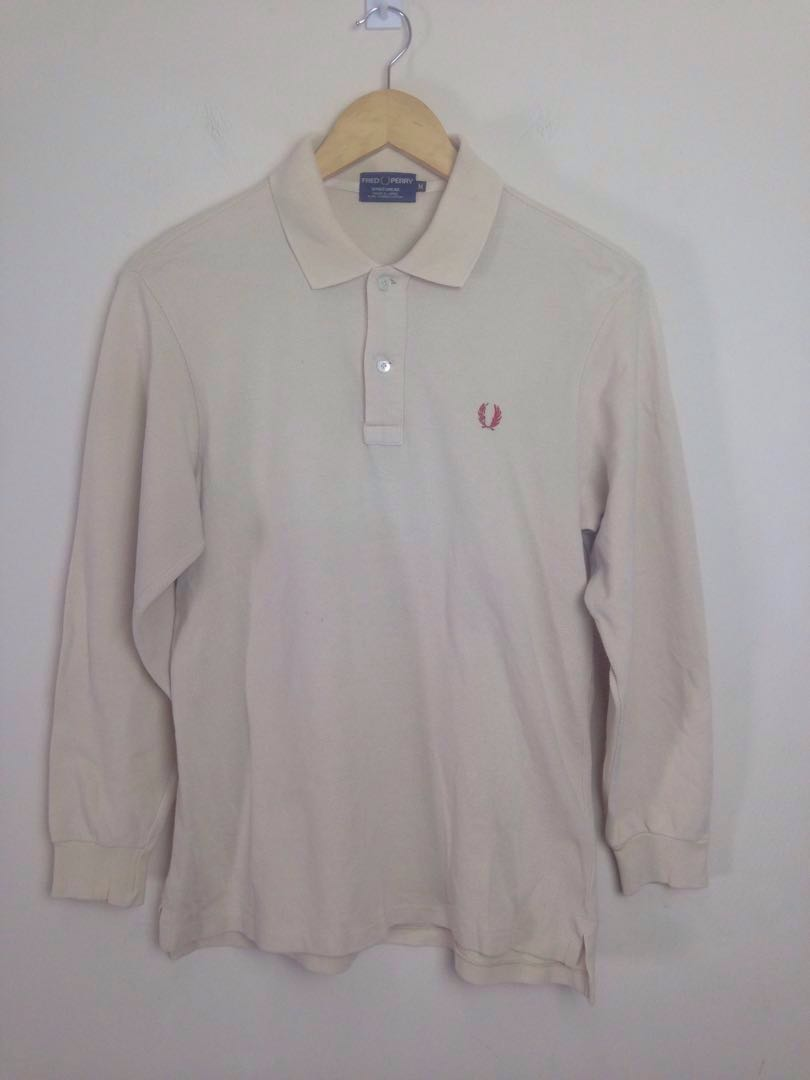 3e34e5fe4 Vintage Fred Perry Long Sleeve Polo Shirt Made In Japan