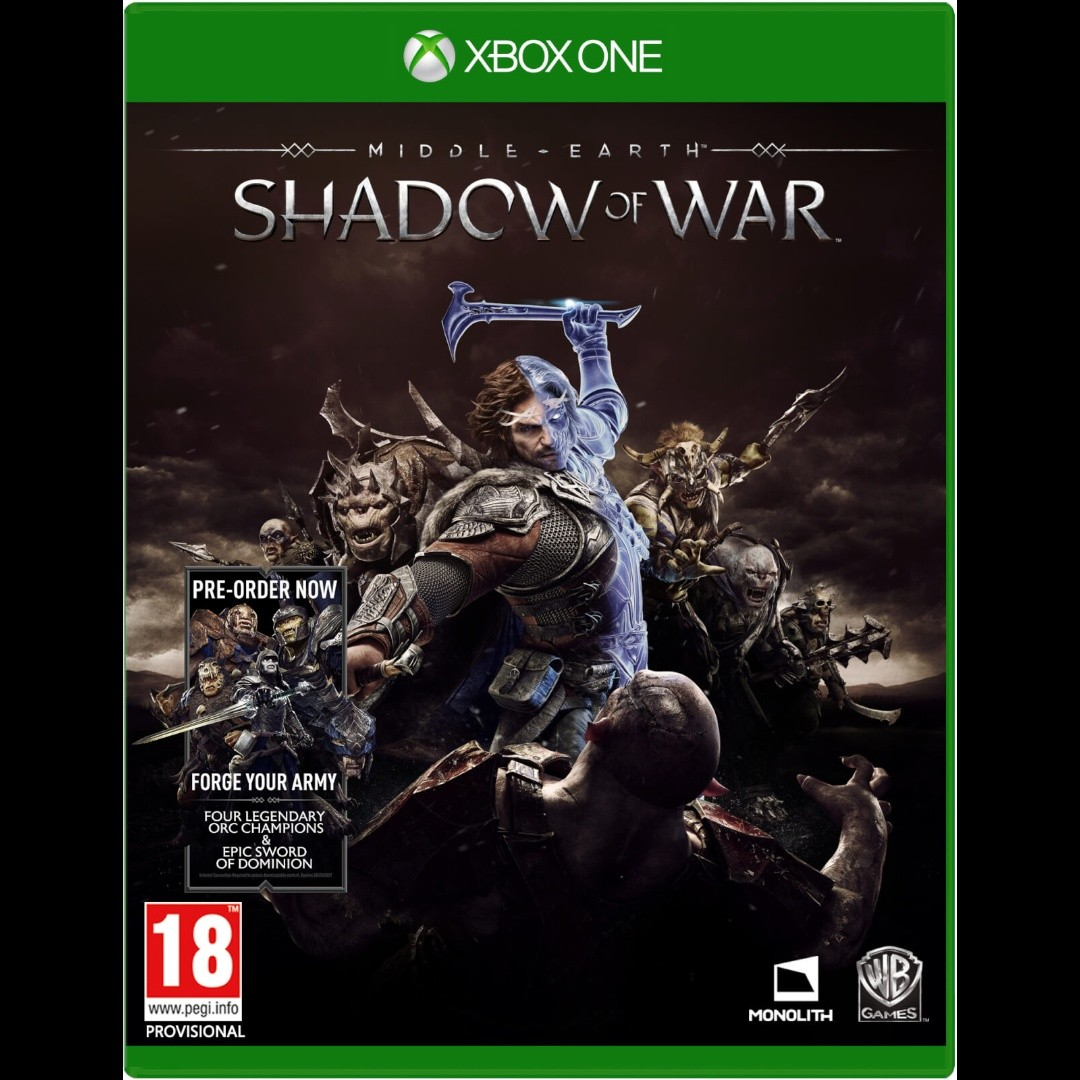 Xbox One Middle Earth Shadow of War Digital Download Game Code