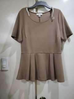 Forever21 Plus Size Beige Top