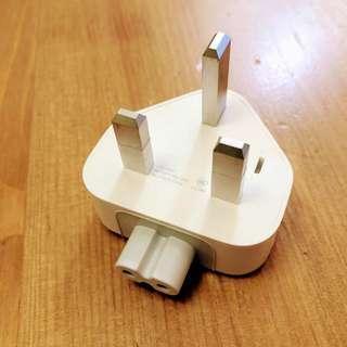 Apple 原裝 英規 三腳插頭