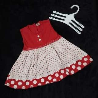 Dress kutung anak bayi perempuan