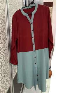 Long Blouse muslimah M size