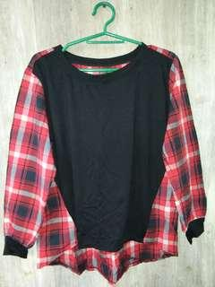 Black&Red checkered blouse