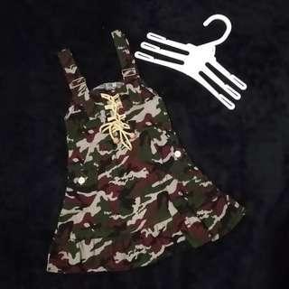 Army overall // rok kodok motif army