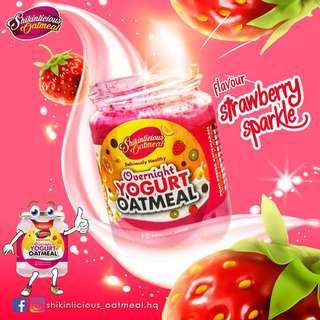 overnight oatmeal strawberry flavour