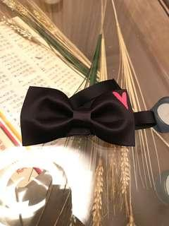 Bow tie 煲呔 - black with heart 💓