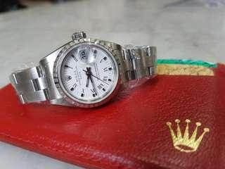 Rolex ladies watch with box and cert