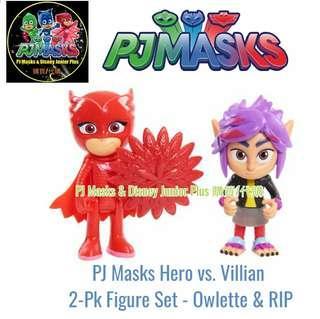 PJ Masks Hero vs. Villian 2-Pk Figure Set - Owlette & RIP