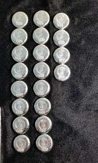 早期:利昌金鋪 1兩銀餅 999純銀