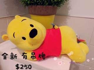 🚚 小熊維尼 Pooh 娃娃 趴著