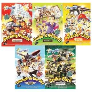 Profession Series Comics 5 Books Bundle 5 , Student Magazines 职业人气王系列