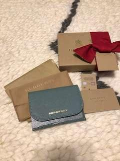 Brand New Burberry Leather Coin and Card Case