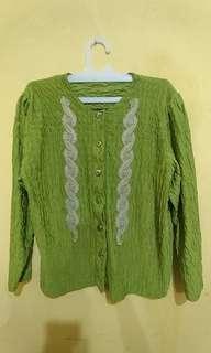 Cardigan unik hijau #paydaymaret