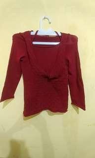 Sweater Cantik Merah Halter #paydaymaret