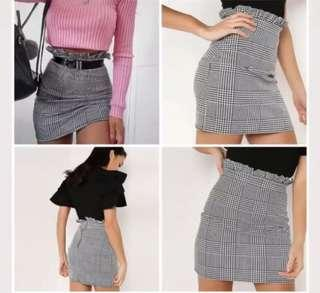 A line houndstooth skirt