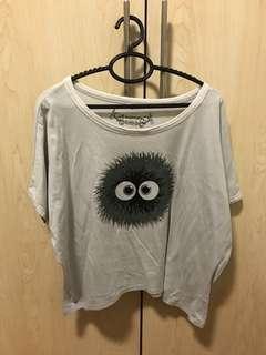 Grey Monster Crop Top