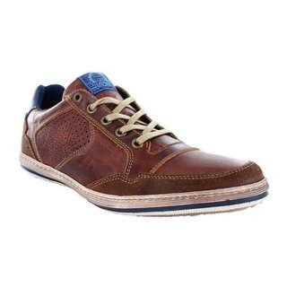 Wild Rhino Mens Crest Tan Sneaker (Size EU 42, which is Size US 9)