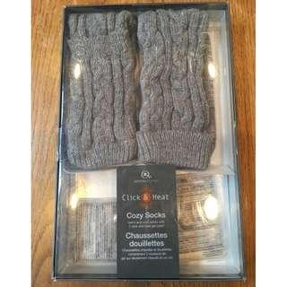 Aroma Home Click & Heat Cozy Socks (New in Box)