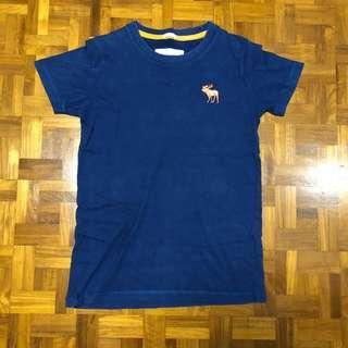 A&F abercrombie T-shirt (Navy blue & orange)