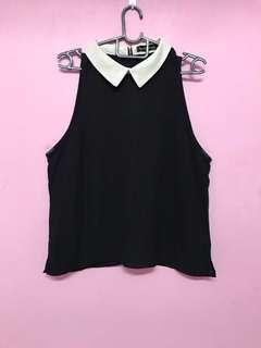 Black Collar Top #CNY888