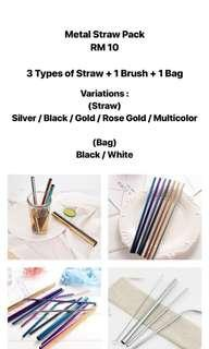 METAL STRAW PACK RM 10