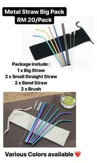 METAL STRAW PACK RM 20