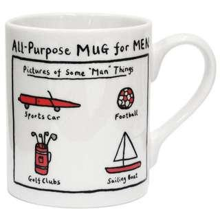 Edward Monkton 'All-purpose Mug for Men' Mug