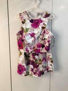 Just G Floral Two Piece dress