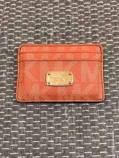 Card Wallet Michael Kors - Type Pebbled Leather Card Case with Logo
