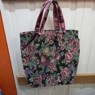 Chimaki Tote Bag  日本製紫色織花手挽袋