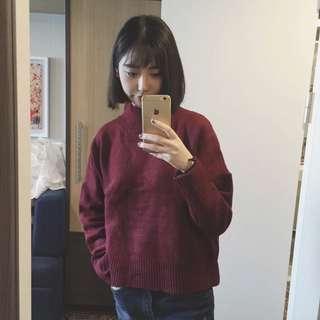 🚚 酒紅毛衣