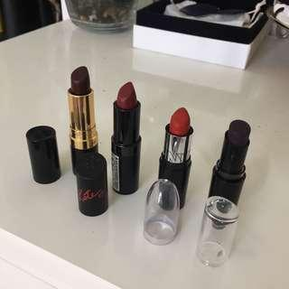 Four Drugstore Lipsticks