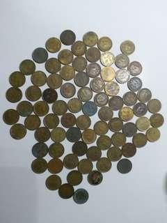 40年代至70年代香港五仙硬幣
