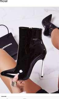 Ego official patent ankle boots